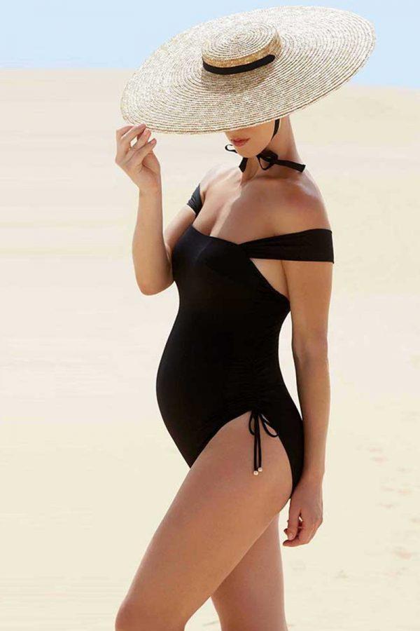 Čierne tehotenské plavky Toscane
