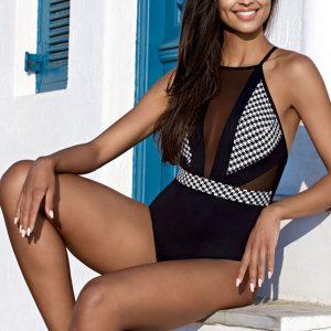 Čierno-biele plavky Danielle