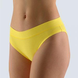 Žlté nohavičky s úzkym bokom 16103
