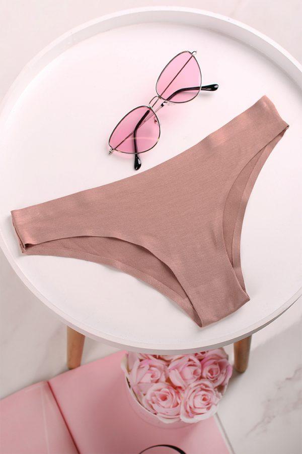 Béžové bezšvové brazílske nohavičky Isabel