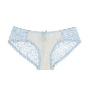 Béžovo-modré hipster nohavičky Tropical Paradise