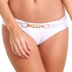 Biele plavkové nohavičky Rhombic