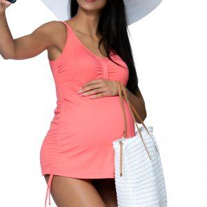Broskyňové tehotenské tankini Apple