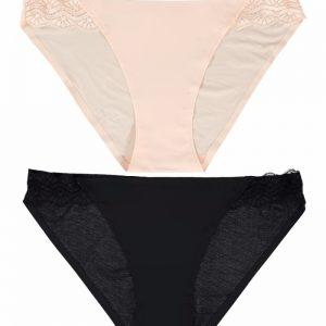 Dámske nohavičky Smooth limits dvojbalenie svetloružová + čierna