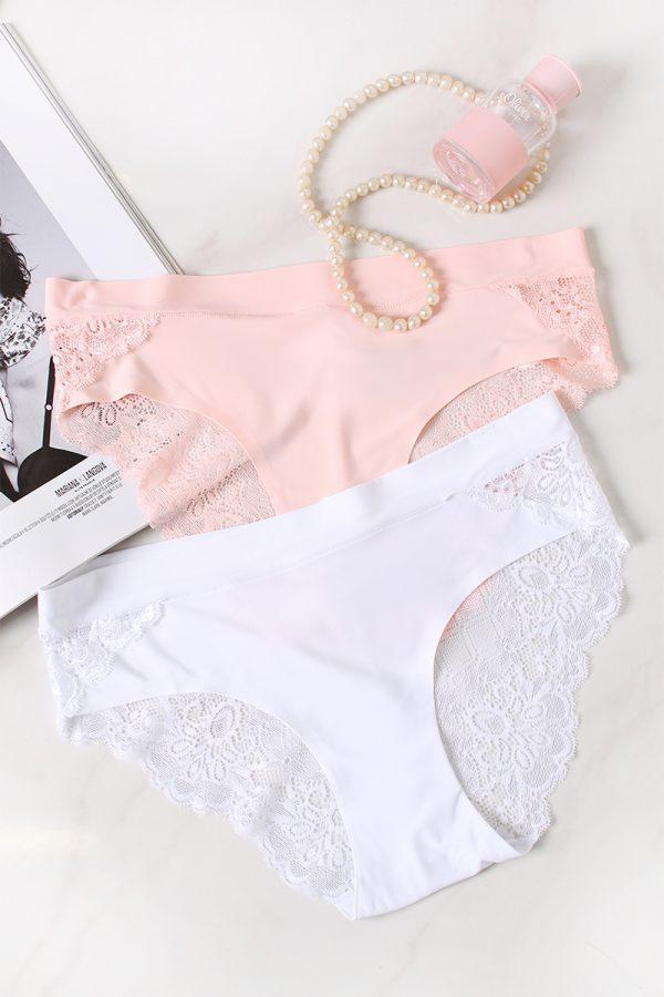 Dvojbalenie nohavičiek A Touch Of Fused Bikini - ružová + biela