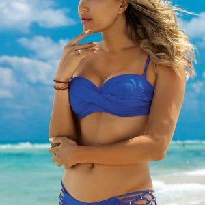 Modré push-up bikiny Amalia