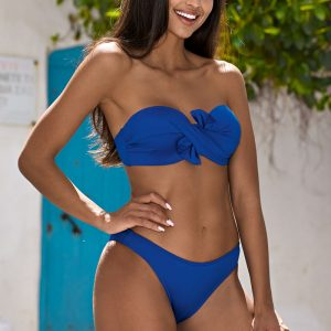 Modré push-up bikiny Elaine