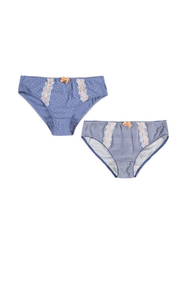 Modro-biele nohavičky Safira - dvojbalenie