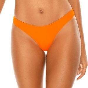 Neónovo-oranžové brazílske plavkové nohavičky Neon