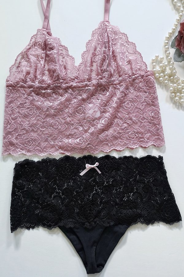 Ružovo-čierny set Pink Set