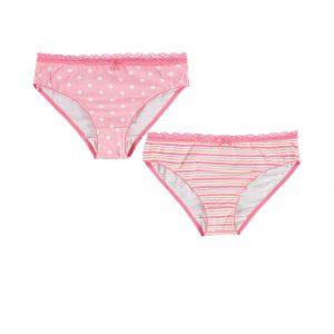 Ružovo-biele nohavičky Mirrena - dvojbalenie