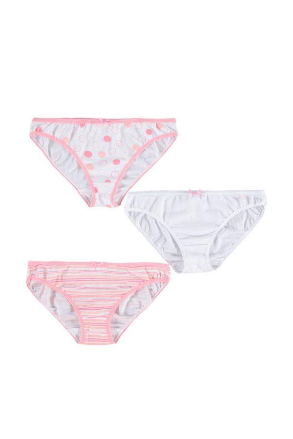 Ružovo-biele nohavičky Ofelia - trojbalenie