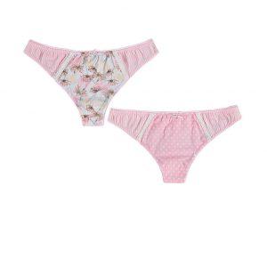 Ružovo-biele tangá Arianna - dvojbalenie