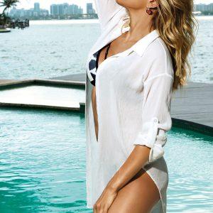 Smotanová plážová košeľa Evie