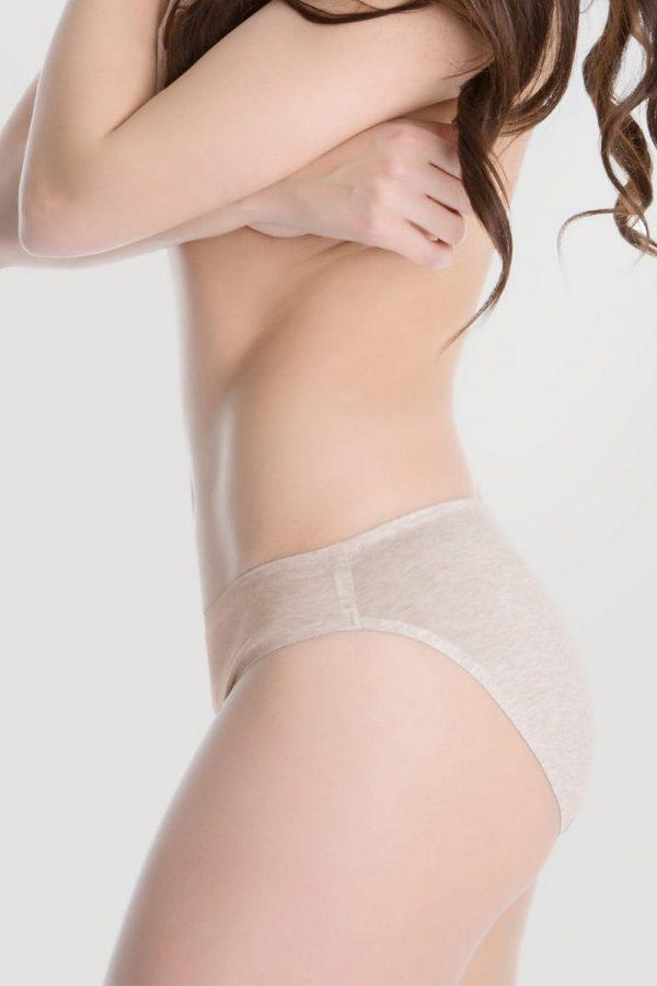 Svetlobéžové nohavičky Hi-Cut Cotton