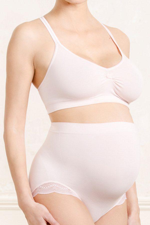 Svetloružové tehotenské nohavičky Serenity