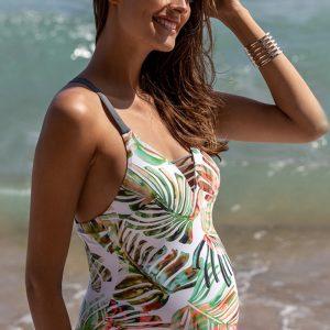 Viacfarebné tehotenské plavky Honolulu