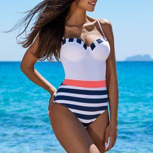 Modro-biele push-up plavky Harriet