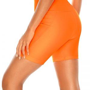 Neónovo-oranžové plavkové legíny Neon