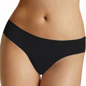Čierne bezšvové nohavičky Selena