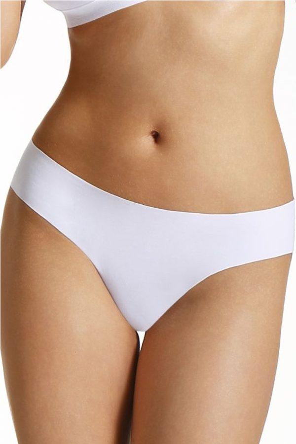 Biele bezšvové nohavičky Selena