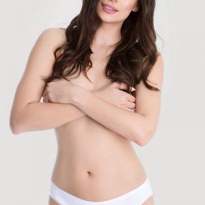 Dvojbalenie nohavičiek Hi-Cut Cotton - biela + tmavomodrá