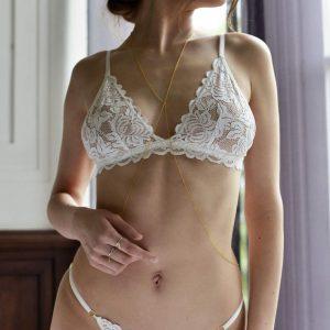 Biele čipkované nohavičky Bianca