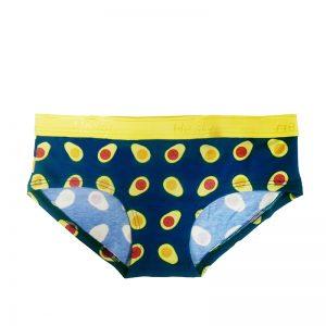 Modro-žlté bavlnené boxerky Avokádo