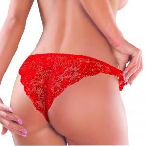 Červené brazílske nohavičky 060