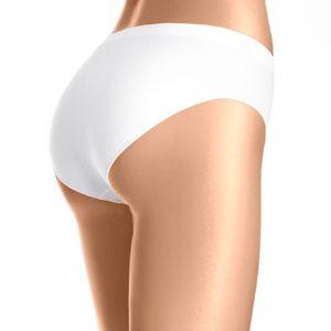 Biele nohavičky Bikini Cotton