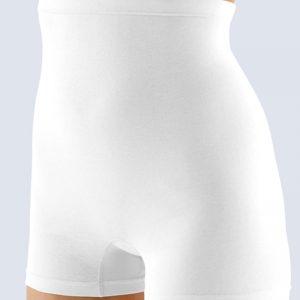Biele boxerky s vyšším pásom 13002
