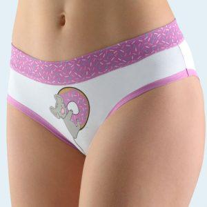 Bielo-fialové francúzske nohavičky 14130