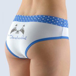 Bielo-modré vzorované francúzske nohavičky 14137