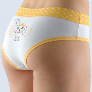 Bielo-žlté vzorované francúzske nohavičky 14134