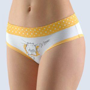 Bielo-žlté vzorované francúzske nohavičky 14135