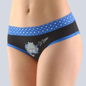 Čierno-modré vzorované francúzske nohavičky 14135