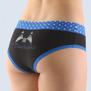 Čierno-modré vzorované francúzske nohavičky 14137