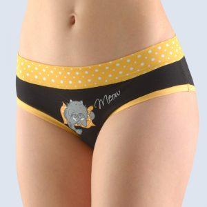Čierno-žlté vzorované francúzske nohavičky 14135