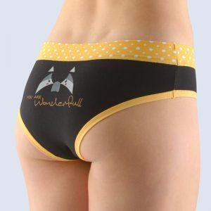 Čierno-žlté vzorované francúzske nohavičky 14137