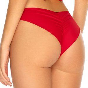Červené plavkové brazílske nohavičky Trends