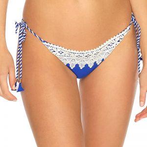 Modré šnurovacie plavkové nohavičky Crochet