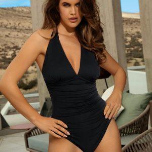Čierne jednodielne plavky Marcia