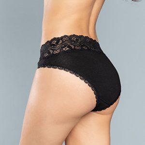 Čierne nohavičky s čipkou Jamajka Midi