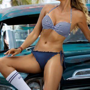 Modré push-up bikiny Eloise