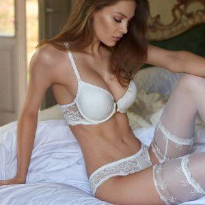Smotanové čipkované nohavičky Jacqueline 01