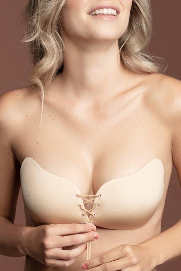 Béžová nalepovacia podprsenka Lace-It Bra