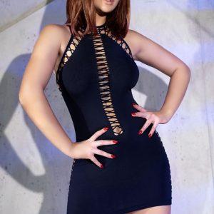 Čierne sexi šaty CR-4397