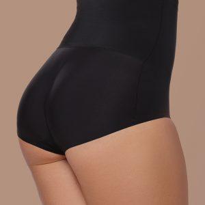 Čierne vystužené nohavičky s vysokým pásom Padded Panties High Waist