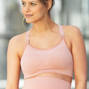 Ružová športová tehotenská podprsenka Woma