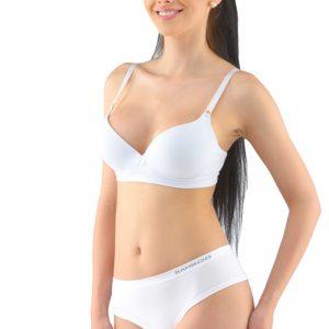 Biele bambusové francúzske tango nohavičky 04031P